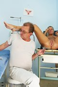 Hot blond Bambi gyno exam