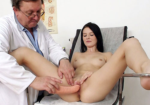 Hot Lucianna getting tested by a real doctor