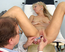 Mature gynecological exam