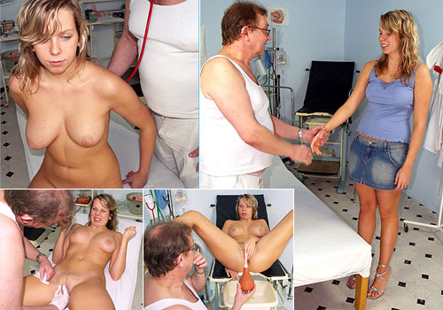 Naturaly busty Candie gyno exam pics