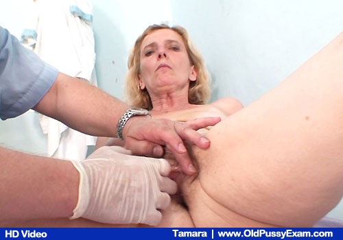 Wife Tamara Gets Cooter Examined By Gloved Hand